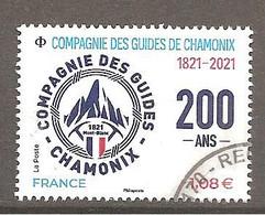 FRANCE 2021 Y T N ° 1??? Oblitéré CACHET ROND Compagnie Des Guides De Chamonix - Gebruikt