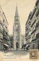 SAN SEBASTIAN  IGLESIA DEL BUEN PASTOR  ° Beau Timbre 2 Cent  Pionnière RV - Guipúzcoa (San Sebastián)