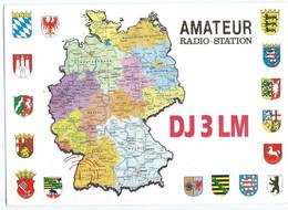Germany 1995 QSL Cards - Radio Amateur Freiburg I B.map - Radio Amateur