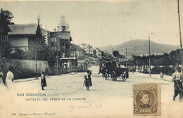SAN SEBASTIAN  HOTELES  DEL PASEO DE LA CONCHA  + Beau Timbre 2Cent Pionnière RV - Guipúzcoa (San Sebastián)