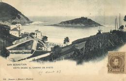 SAN SEBASTIAN  VISTA DESDE EL VAMINO DE AYETE    + Beau Timbre 2Cent Pionnière RV - Guipúzcoa (San Sebastián)