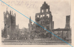 Ansichtskarte Ostpreussen Die Russischen Verwüstungen In Ostpreussen Lyck Am Marktplatz Feldpost 1915 RB Allenstein - Ostpreussen