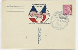 MERCURE 70C CARTE LEGION TCHECOSLOVAQUE 1914 1918 LA VERITE VAINC L'ARMEE TCHECOSLOVAQUE 1939 - Militaire Kaarten Met Vrijstelling Van Portkosten