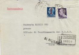 RSI RACOMANDATA DA VENEZIA A ROMA 16.05.1944 RESA AL MITTENTE IL 22.07.1944 CON 1L IMPERIALE E 1,25 SOVRASTAMPATO - Marcofilie
