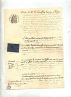 Acte Huissier Protêt  Gisors 1884 - Fiscaux