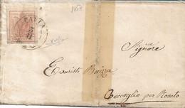 LOMBARDO VENETO - 15 CENTES DA PAVIA A COCCAGLIO CON TESTO INTERNO 1857 - FIRMA RAYBAUDI - A66 - Lombardije-Venetië