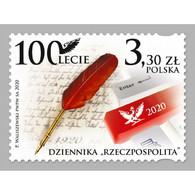 🚩 Discount - Poland 2020 The 100th Anniversary Of The Rzeczpospolita Daily Newspaper  (MNH)  - Newspaper - Non Classés