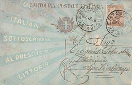 REGNO - INTERO POSTALE 40c PRESTITO LITTORIO - VIAGGIATO 22.12.1926 -  A66 - Interi Postali