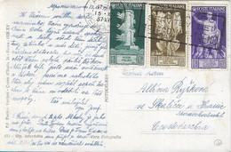 REGNO - CARTOLINA POSTALE PER LA CECOSLOVACCHIA CON AFFRANCATURA MISTA BIMILLENARIO AUGUSTO 1937 -  A66 - Storia Postale