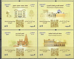 EGYPT, 2021, MNH, WORLD HERITAGE DAY, MUSEUMS, PALACES,  1v - Musei