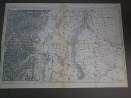 COLMAR N° 86 - CARTE DU DEPOT DE LA GUERRE - EDITION DE 1837 REVISÉE EN 1901 ET 1911 - TIRAGE  10 / 5 /16 - 1/80.000e - 1914-18