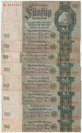 Lot De 8 Billets De 50 Mark  De 1924 - 50 Mark