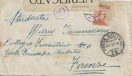 REGNO - P.M. 53 E ANNULLO AUSTRIACO CORMONS (a) SU BUSTA AFFRANCATA - FASCETTA CENSURA 22.12.1918 - Marcofilie