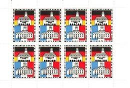 """Euskirchen & Charleville ~1972 """" Feuille Complet/Bogen Zu 8 Jumelage - L'Europe Unie """" Vignette Cinderella Reklamemarke - Cinderellas"""