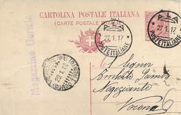 REGNO - TRENTINO  LIBERATO - ANNULLO ALA POSTE ITALIANE 27.01.1917 - A67 - Marcofilie