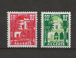 ALGÉRIE 1957 . N° 340A Et 341 . Neufs  ** (MNH) . - Unused Stamps