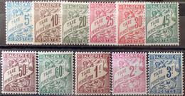 R2269/271 - 1926/1928 - COLONIES FR. - ALGERIE - TIMBRES TAXE - SERIE COMPLETE - N°1A à 11 NEUFS** - Portomarken