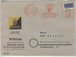 "Bizone - 20 Pfg. AFS ""Mertens Tabakmanufaktur"", Illustr. Firmenbrief Holzhausen - Unclassified"