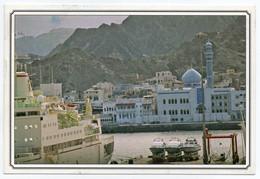 OMAN - CORNICHE IN MUSCAT / SHIP / MOSQUE - Oman