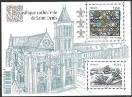France 4930 2015 Cathédrale De Saint Denis Michel-Nr. Bl. 283 (6091-92) MNH Mint Neuf Postfrisch ** - Ongebruikt