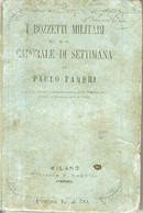 B 4401 - Libro, Bozzetti Militari - Teatro