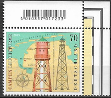 2019  Deutschland Germany Mi. 3465 **MNH  EOR Leuchttürme: Leuchtturm Campen - Ungebraucht