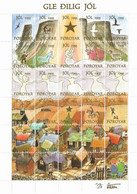 Faroe Islands 1995 - Christmas,sheet, With No Perforation  In Top Margin MNH(**) - Féroé (Iles)