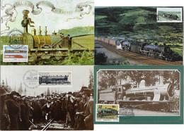 Belgium Bophuthatswana Canada Transkei 1985 2010 4 Maximum Card Transport Train Locomotive Railroad Railway - Trenes