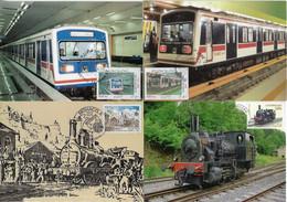 Iran Luxembourg Monaco 1979 2005 4 Maximum Card Transport Train Locomotive Railway Railroad Metro Station - Trenes