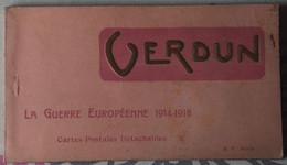55 : Verdun - La Guerre Européenne 1914-1918 - Carnet Complet De 20 CPA - Militaria - Ruines - Quelques Animations - Verdun