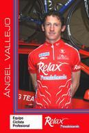 CARTE CYCLISME ANGEL VALLEJO TEAM RELAX  2005 - Ciclismo