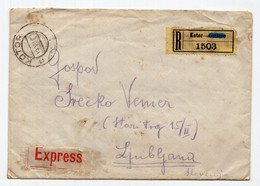 1921 KINGDOM OF SHS,MONTENEGRO,KOTOR TO LJUBLJANA,SLOVENIA,EXPRESS COVER - Postal Stationery