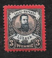 Privatpost Lübeck, Postfrischer Wert Der Ausgabe Der Local-Verkehr-Gesellschaft  Von 1888 - Private