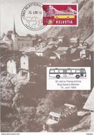 """Sonderkarte  """"50 Jahre Postauto Linie Brig - Naters - Blatten""""             1984 - Storia Postale"""