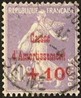 YT 249 (°) Obl Semeuse Caisse D'amortissement 1928, +10c Sur 40 C [violet-gris] (10 Euros) France – 3bleu - Used Stamps