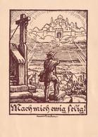 Andenken An Die Konfirmation - 20 Mai 1945 - Occupation All. 40-45 De L'Alsace Moselle -IIlustrateur Henri Bacher - Santini