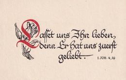 Souvenir De Confirmation  - Occupation All. Alsace Moselle 40-45  - Psaume Et Fleurs - Imágenes Religiosas