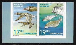 "GROENLANDIA /GREENLAND /GRÖNLAND /GROENLAND -EUROPA 2021 -ENDANGERED NATIONAL WILDLIFE""-SERIE 2 V. ADHESIVOS- Tipo C- CH - 2021"