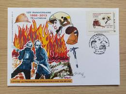 Enveloppe Roland IROLLA - MonTimbreAmoi - Pompiers - 79 LA CRECHE + Signature - Personalized Stamps (MonTimbraMoi)