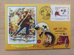 Carte Roland IROLLA - MonTimbreAmoi - Les Pompiers - 79 LA CRECHE + Signature - Personalized Stamps (MonTimbraMoi)