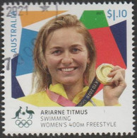 AUSTRALIA - USED 2021 $1.10 Tokyo Olympic Gold Medal Winners: Swimming Women's 400m Freestyle - Used Stamps
