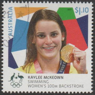 AUSTRALIA - USED 2021 $1.10 Tokyo Olympic Gold Medal Winners: Swimming Women's 100m Backstroke - Used Stamps