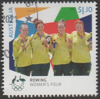 AUSTRALIA - USED 2021 $1.10 Tokyo Olympic Gold Medal Winners: Rowing - Women's Four - Used Stamps