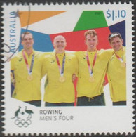 AUSTRALIA - USED 2021 $1.10 Tokyo Olympic Gold Medal Winners: Rowing - Men's Four - Used Stamps