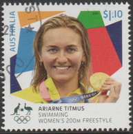 AUSTRALIA - USED 2021 $1.10 Tokyo Olympic Gold Medal Winners: Swimming: Women's 200M Freestyle - Used Stamps