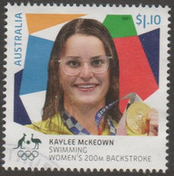 AUSTRALIA - USED 2021 $1.10 Tokyo Olympic Gold Medal Winners: Swimming: Kaylee McKeown - Women's 200M Backstroke - Used Stamps