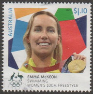 AUSTRALIA - USED 2021 $1.10 Tokyo Olympic Gold Medal Winners: Swimming: Emma McKeon - Women's 100M Freestyle - Used Stamps