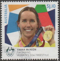 AUSTRALIA - USED 2021 $1.10 Tokyo Olympic Gold Medal Winners: Swimming: Emma McKeon - Women's 50M Freestyle - Used Stamps
