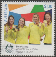 AUSTRALIA - USED 2021 $1.10 Tokyo Olympic Gold Medal Winners: Swimming:  Women's 4x400 Medley Relay - Used Stamps