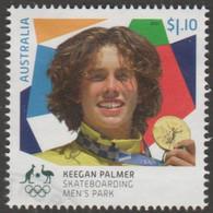AUSTRALIA - USED 2021 $1.10 Tokyo Olympic Gold Medal Winners: Skateboarding: Men's Park - Used Stamps